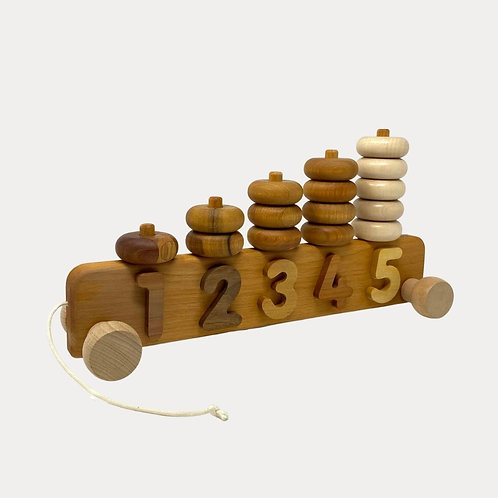 Bajo Stacker 1 - 5 Wooden Educational Pull Along Toy for Toddlers