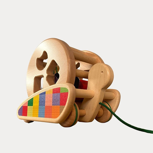 Bajo Sortroller, 2-in-1 toy. Shape sorter and pull along for 1 year old