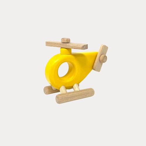 Bajo Wooden Toy Helicopter Yellow for Toddler