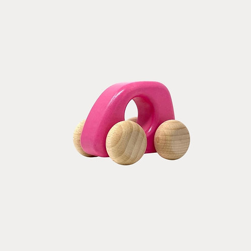 Bajo Wooden Toy Car Pink for Baby's First Car