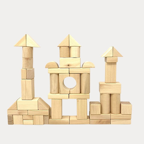 Natural Wooden Building Blocks