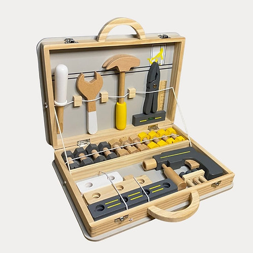 Wooden Toy Toolbox