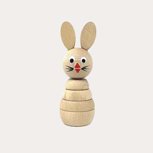 Wooden Stacking Rabbit Toy for Baby and Toddler