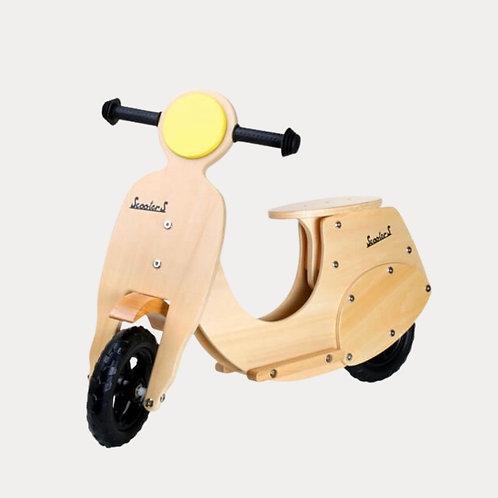 Childrens wooden scooter balance bike