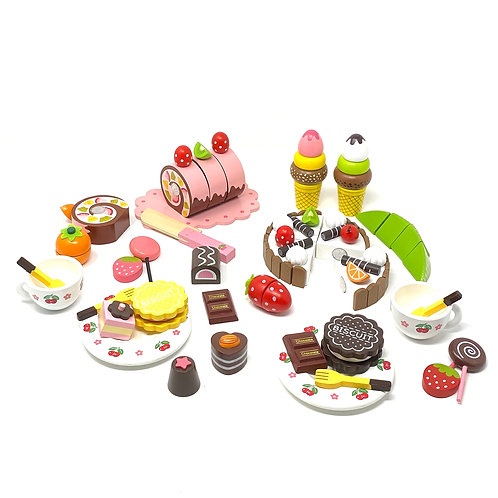 Wooden Tea Party Set for Children