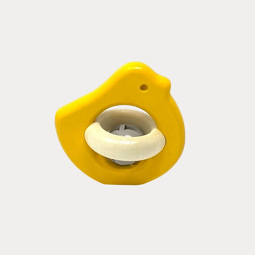 Bajo Bird Rattle Yellow for Babies