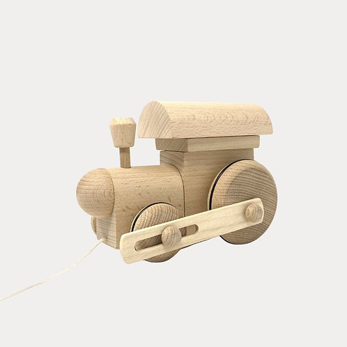 Natural Wooden Pull Along Train for Baby and Toddler