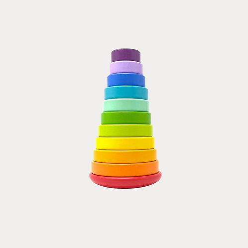 Legler Rainbow Stacking Tower Large Wooden Toy
