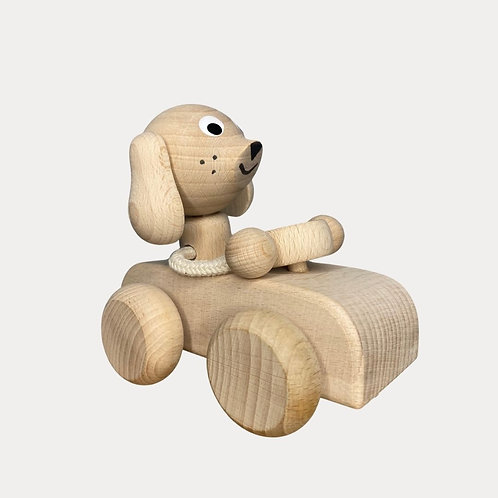 Wooden Toy Car Pull Along Toy for Toddlers