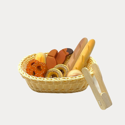 Childrens Wooden Bread Basket Set