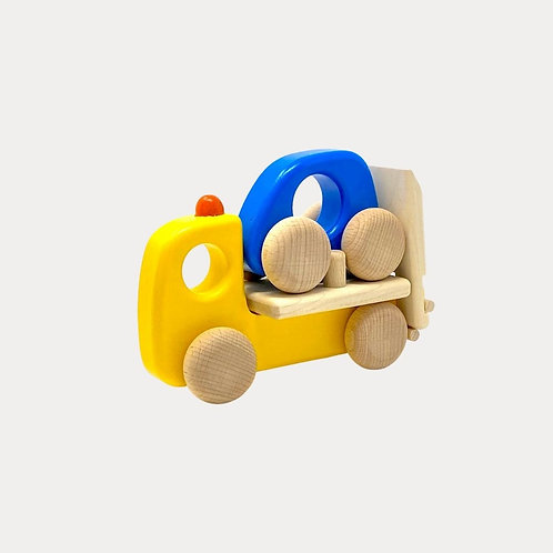 Bajo Breakdown Lorry. Wooden toy car for babies and toddlers