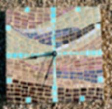 Mosaic Clock Southwestern (no paw prints