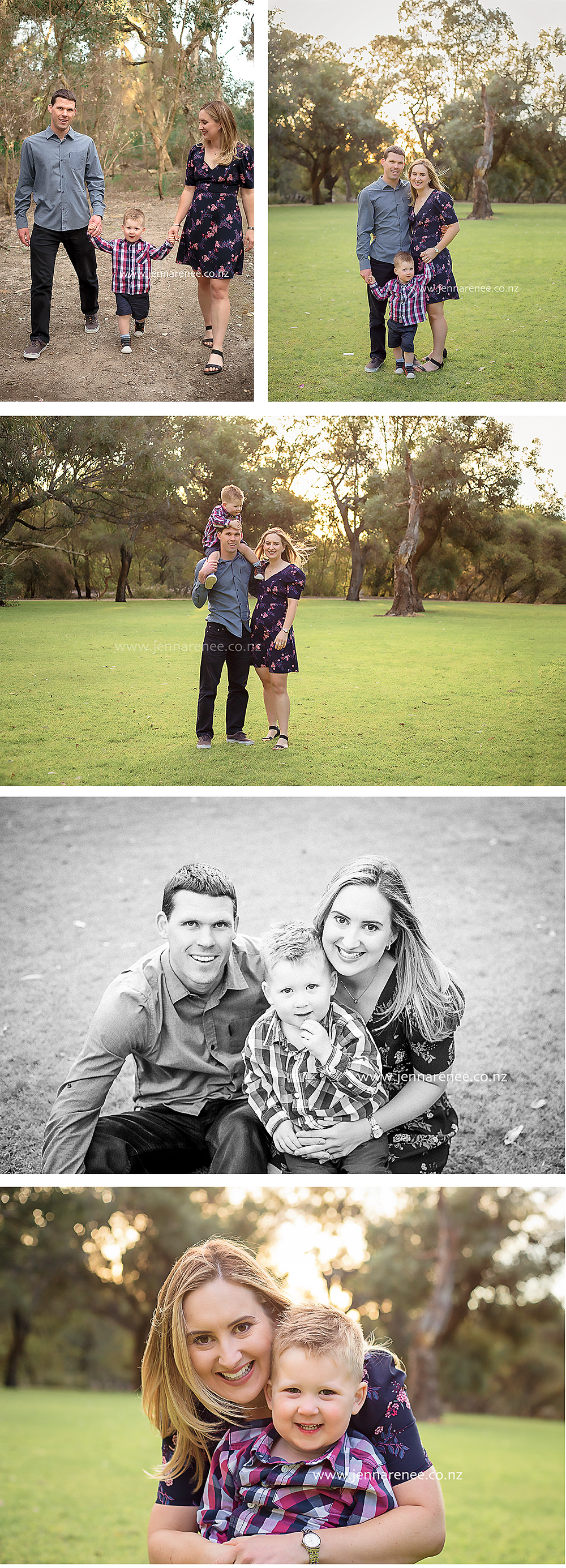 Outdoor family portrait session