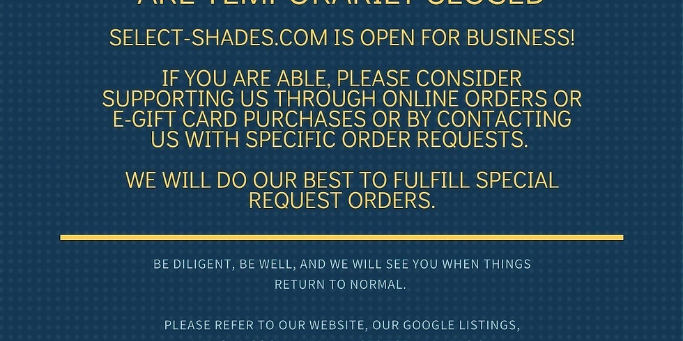 Update on all Select Shades Retail Stores