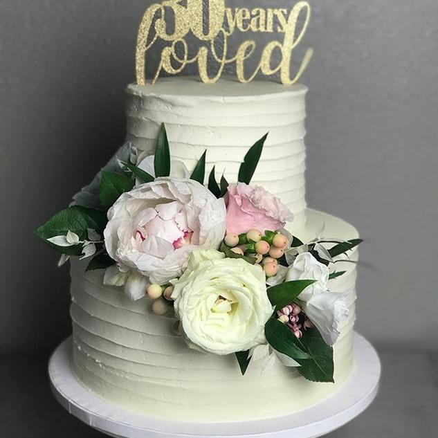30th anniversary cake #cakedecorating #b
