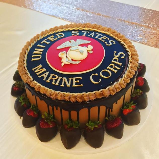 USMC grooms cake! #wishfulsweets #weddin