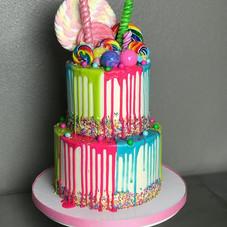 Buttercream candy drip cake! #cakedecora