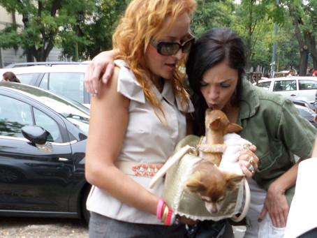 With Maria Carla Boscono