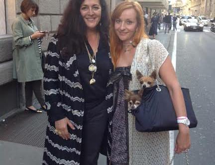 With Angela Missoni