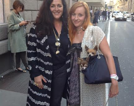 With Angela Missoni