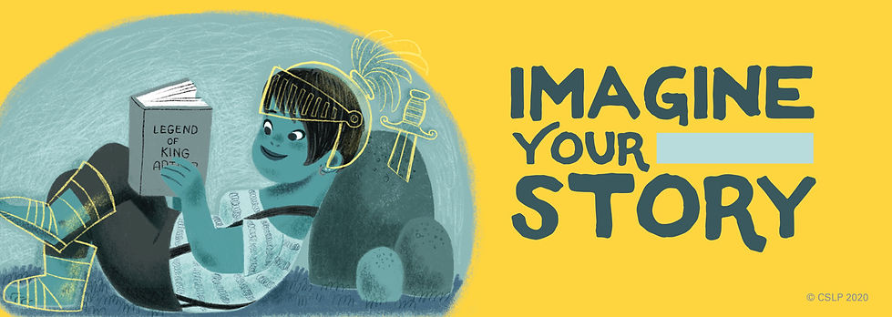 Imagine Your Story slogan for the summer learning challenge