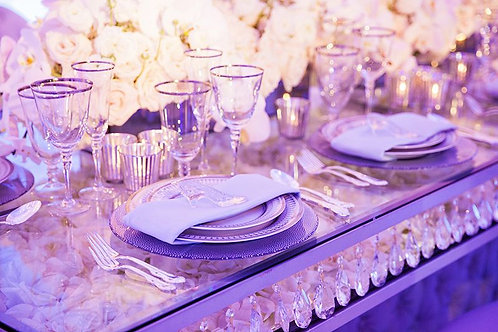 Silver Crystal Table