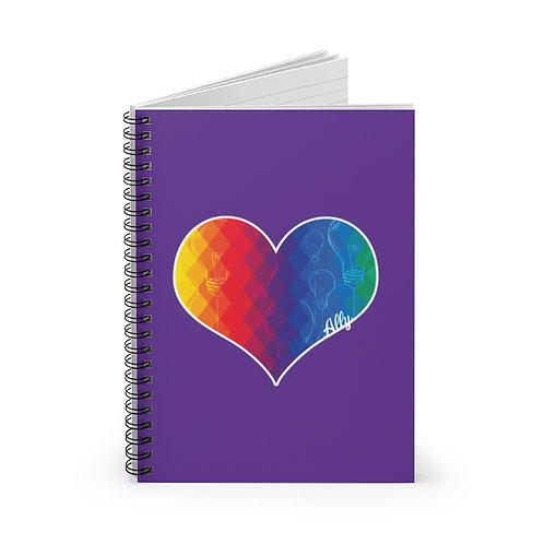 Thinking Heart Spiral Notebook - Ruled Line
