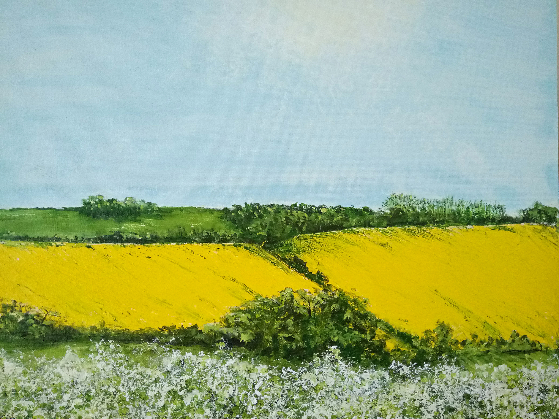 """Fields of Brilliant Yellow"""