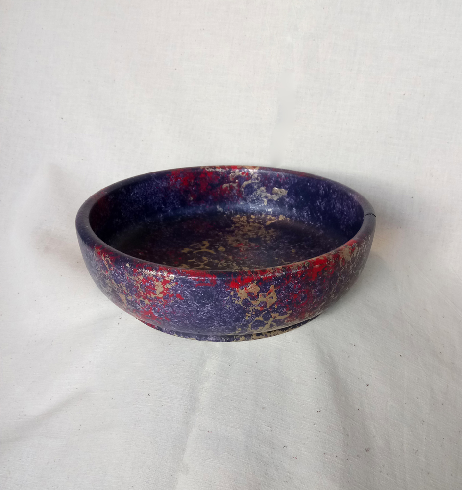 Red Blue Gold Bowl