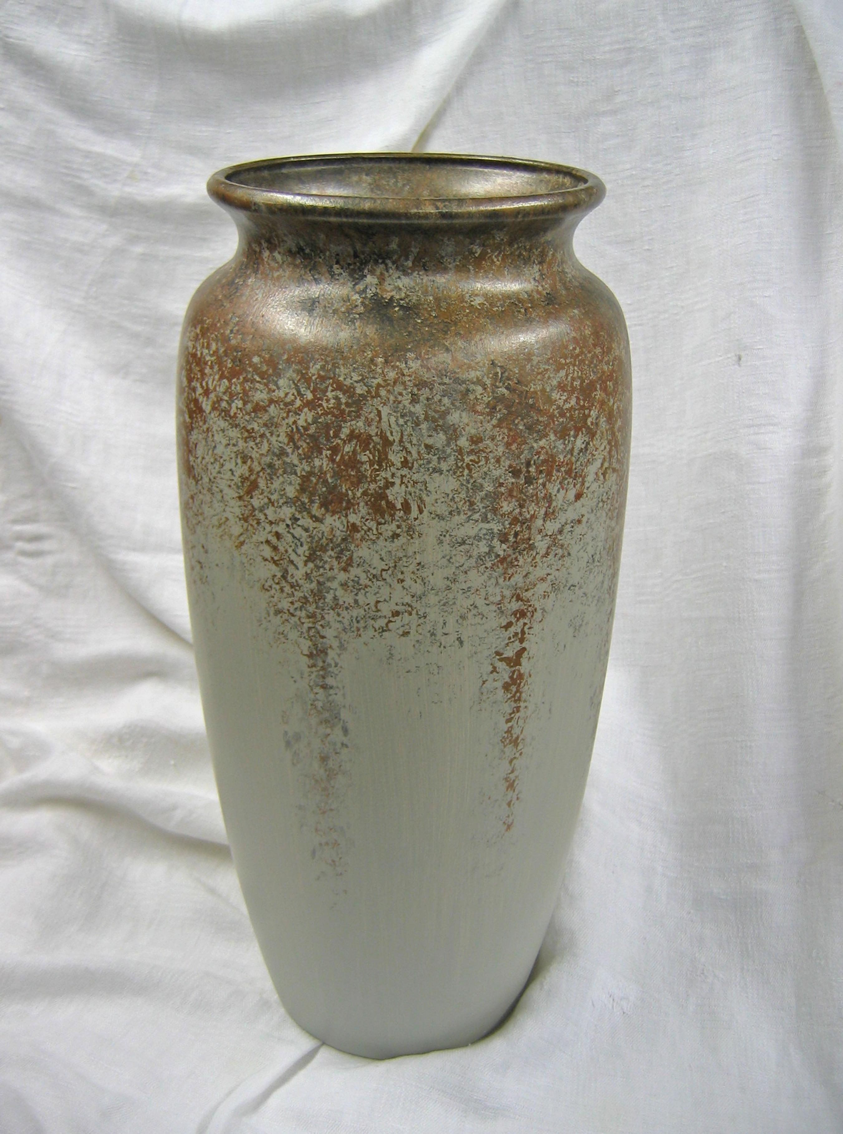 Tall Gold & Bronze Detail Vase