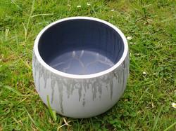 Silver Blue Bowl