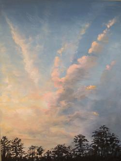 """Late Sun on Clouds"""