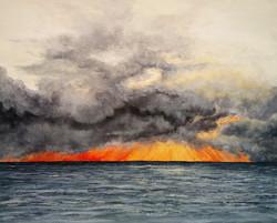 """Sunset Drama from Cogden Beach"""