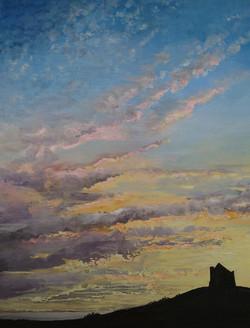 """St Catherine's Chapel, Abbotsbury at Sunset"""