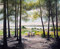 """""""Two Ladies Painting at Arne"""""""
