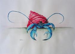 Blue Fidgety Crab