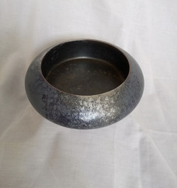 Pewter Blue Bowl