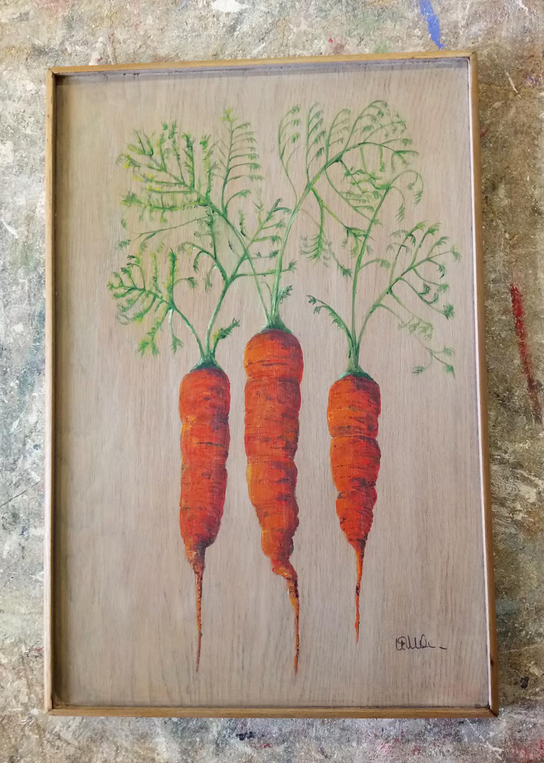 Carrots on Oak