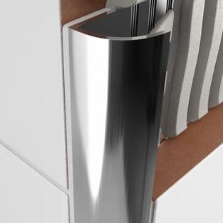 Round Aluminum Angle - Bright Silver