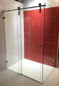 Sero-L Semi Frame-less Sliding Door Shower Screen