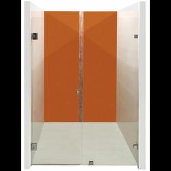 Frame-less Wall-To-Wall Pivot Door Shower Screen
