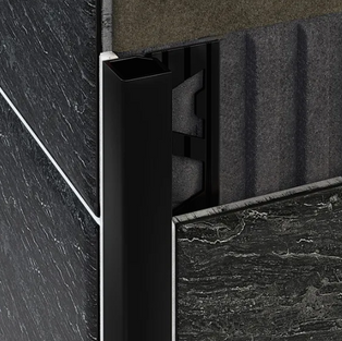 Square Aluminium Angle - Matt Black