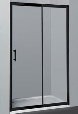 Wall-To-Wall Sliding Door Shower Screen Matt Black
