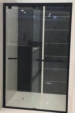 Marini Wall-To-Wall Sliding Door Shower Screen Matt Black