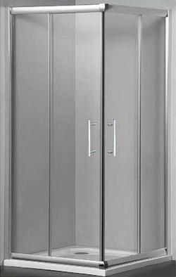 Semi Frame-less Corner Sliding Door Shower Screen