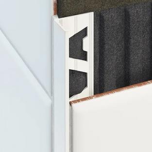 L Shape Aluminium Angle - White