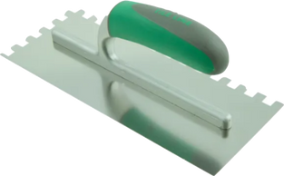 Notched Trowel - Stainless Steel