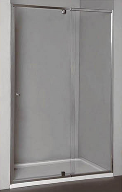 Semi Frame-less Wall-To-Wall Pivot Door Shower Screen