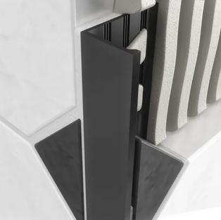 L Shape Aluminum Angle - Matt Black