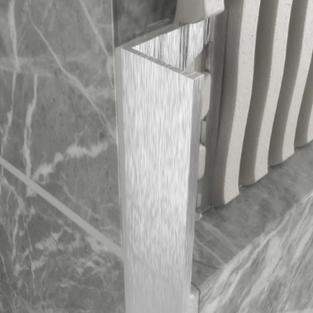 L Shape Aluminium Angle - Brushed Silver